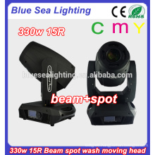 CMY 15r moving heads 330w spot wash beam 3in1