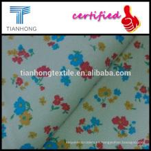 pequeño impreso floral sobre fondo beige medio fino algodón spandex de la tela cruzada en función buen estiramiento para la ropa
