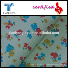 маленький, цветочные печати на бежевом фоне середине тонкий хлопок саржа spandex ткани в хорошее стрейч функции для одежды
