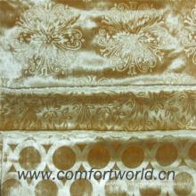 Tissu 100% de velours de polyester avec le gaufrage