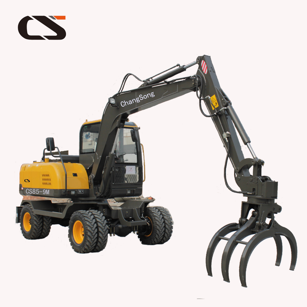 Mini Grapple Machine Wheel Excavator 85 9m