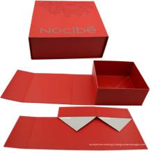 Boîte pliante rigide personnalisée Cardbaord avec aimant