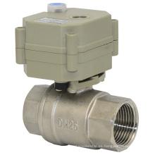 Válvula de bola del agua de la energía del motor eléctrico Ss304 de 2 maneras