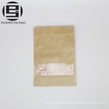 Kraft papier stand up sachets d'emballage