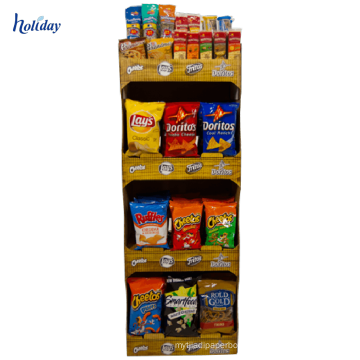 2018 New Products Paper Cardboard Snack Display Stands,Free Standing Snack Display Racks