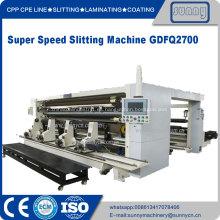 CPP CPE Máquina de corte y rebobinado de película plástica
