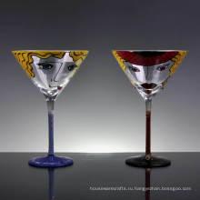 Расписанную Мартини бокал для коктейля