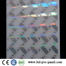 25cm 7.5mm /7mm Unique Laser Hot Stamp PVC Ceiling Panel