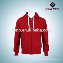 barato hoodies feitos sob encomenda da alta qualidade do hoodie do zipper da venda