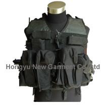 Армия / Полиция Черное военное снаряжение Тактический жилет (HY-V045)