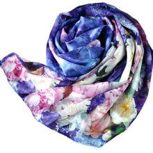 Пользовательские цифровой шелковый шарф печать для дамы