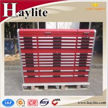 Garaje de armario de herramientas de metal móvil con ruedas