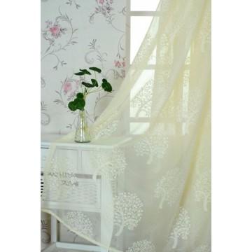 Household Money Tree Plant Pattern Curtain