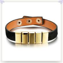 Joyería de moda cuero joyas pulsera de cuero (lb296)