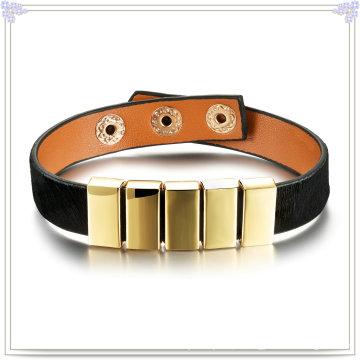 Jóias de moda pulseira de couro de jóias de couro (lb296)