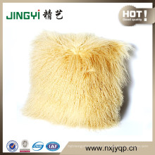 Wholesale Tibetan Mongolian Sheepskin Fur Cushion Covers