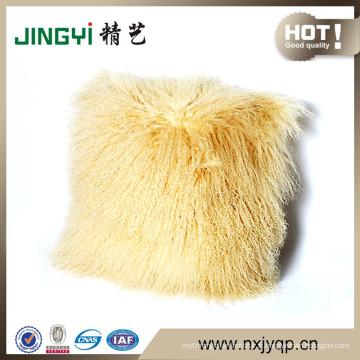 Wholesale tibétain mongol en peau de mouton fourrure couvertures de coussin