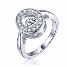 New Fashion 925 Silver Jewelry Dancing Diamond Micro Setting