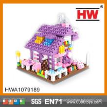 Educacional Cidade Apartamento Building Blocks Toy Set for Kids, blocos de tubos de plástico de construção de brinquedos
