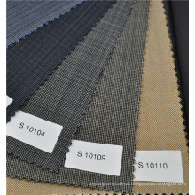 Brown color wool and polyester blend cavalry fabric plain fabric for formal suit weight 270g/m
