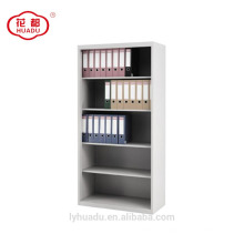 High quality open door four adjustable shelves steel bookcase cabinet