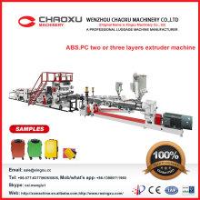 Máquina del extrusor de la hoja del equipaje de la PC del ABS en venta popular