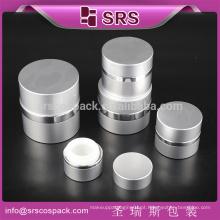 Pequeno 7ml 15ml 20ml 30ml 50ml Skincare Creme E Rounld Alta Qualidade Sliver Alumínio Frascos Cosméticos Para Venda