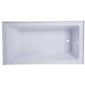 Cupc High Quality Simple Built-in Apron Bathtub (WTM-02850)