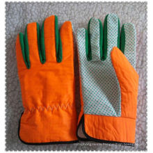 Orange nylon garden gloves for tool handlingJRG09