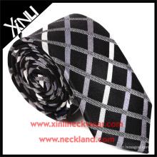 Haute Qualité En Gros Mens Cravates Pas Cher Polyester Vérifier Tissu