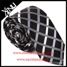 High Quality Wholesale Mens Neckties Cheap Polyester Check Fabric