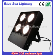 4x100w warm/cool Cob led white dmx led blinder audience light