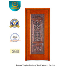 Security Steel Door for Exterior with Iron Art (B-8009)