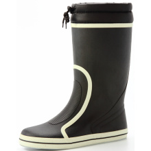Black Cotton Lining Women's Boots With Pvc Cover