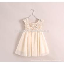 La robe de fille de fleur de dentelle d'été d'une ligne des enfants en gros pour l'usage commun