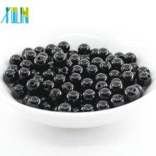 2018 Nueva moda negro redondo faux máquina cuentas de perlas de plástico