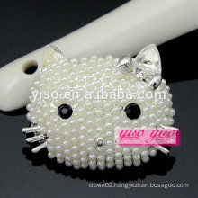 custom making lovely fashion animal pearl brooch