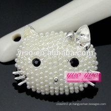 Custom fazendo broche de pérolas de animais bonitos da moda