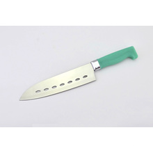 """Couteau de cuisine de 7 """"trous de style, couteau de cuisine utilitaire avec poignée en plastique"""