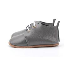 رمادي جلد طبيعي طفل [سلد] أكسفورد أحذية