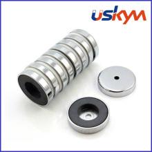 Magnet magnético permanente del pote de la ferrita del pote (P-004)