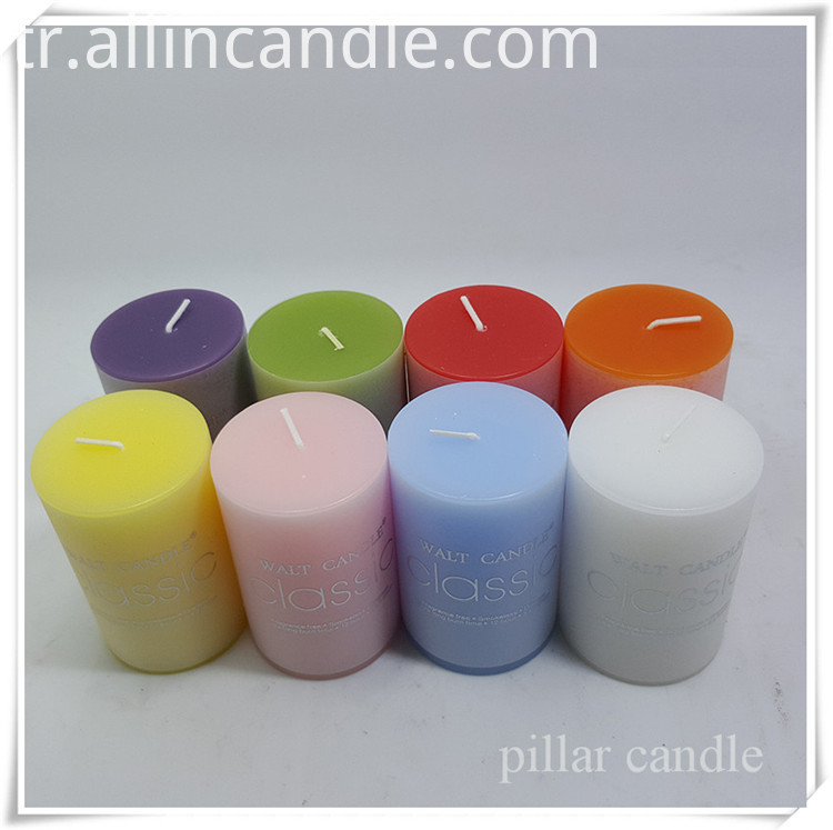 thin pillar church candles