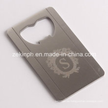 Stainless Steel Card Shape Bottle Opener with Customized Logo Laser Engraved