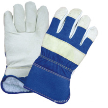 Pig Grain Leather Fully Acrylic Pile Lined Work Glove-3514