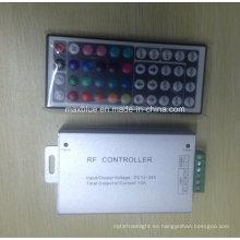 DC12V-24V 3 * 4A de aluminio de la vivienda 44key RGB RF LED Controller