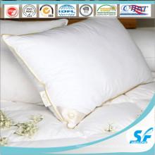 Funda de almohada blanca barata con inserción de almohada envolvente de tela de algodón