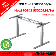 2016Ireland electrical height adjustable office desk frame&lifting metal working table legs with 4 memory height control panel