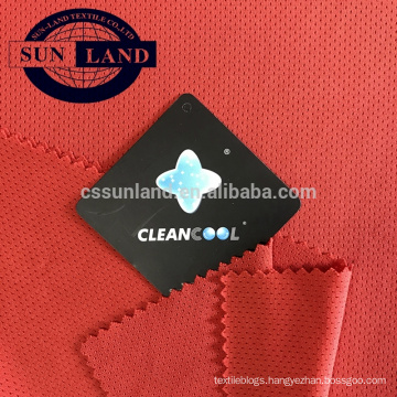 100% polyester breathable antimicrobial mesh fabric for jersey sports