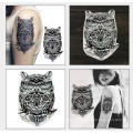 High Quality Black waterproof body temporary single color tattoo sticker