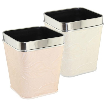 Fashion Leatherette Covered Open Top Dustbin